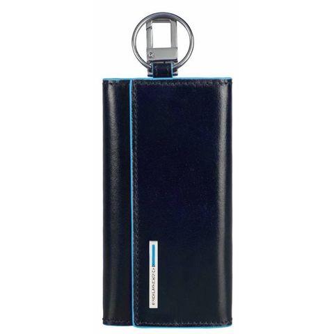 Ключница Piquadro Blue Square (PC1397B2/BLU2) синий кожа