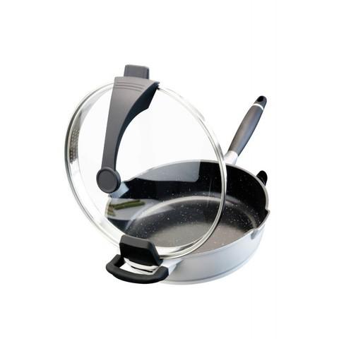 Сковорода глубокая с крышкой 28cm 4,3LVirgo white