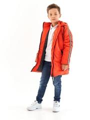 Полупальто для мальчика красный