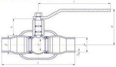 Конструкция LD КШ.Ц.П.GAS.080.025.П/П.02 Ду80
