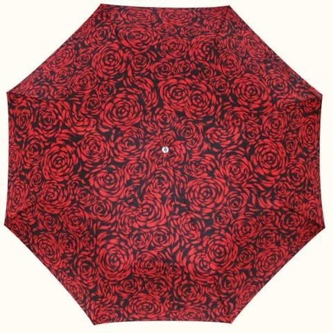 Зонтик букет алых роз