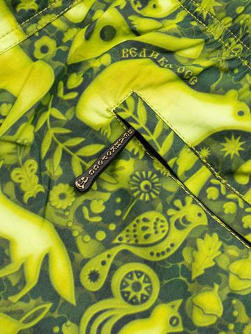 Женские пляжные шорты «Зеленый лес»