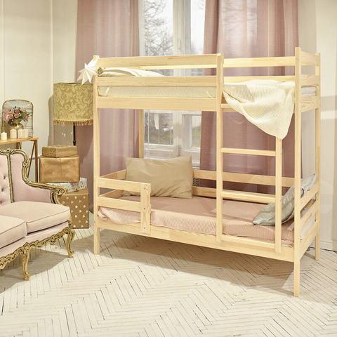 Кровать детская домик двухъярусная без крыши