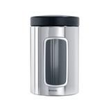 Контейнер для сыпучих продуктов с окном (1,4 л), Стальной полированный, артикул 132803, производитель - Brabantia