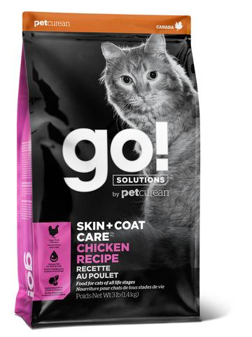 купить гоу GO! SKIN + COAT Chicken Recipe for Cats сухой корм для котят и кошек с курицей, фруктами и овощами
