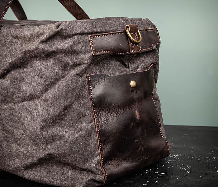 BAG499-1 Мужская дорожная сумка из ткани с ремнем фото 06