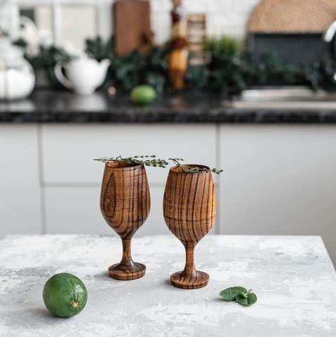 Набор бокалов для вина из дерева «Сибирский вяз»