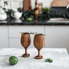 Набор бокалов для вина из дерева «Сибирский вяз», фото 1