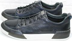 Мужские спортивные туфли кроссовки городские осень весна Luciano Bellini C6401 TK Blue.