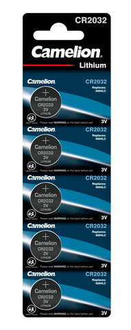 Батарея Camelion Lithium CR2032 BL-5 CR2032 210mAh (5шт) блистер