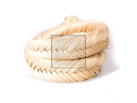 Накладная коса из натуральных волос оттенок блонд 613