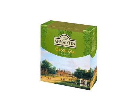 Чай зеленый в пакетиках Ahmad Green Tea, 100 пак/уп