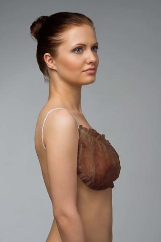 Топик с открытой спиной (Спанбонд, цвет шоколадный, 10 шт/упк, стандарт)