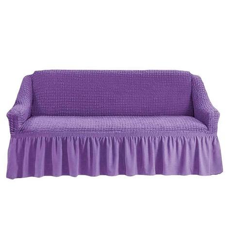 Чехол на 3-х местный диван сиреневый.