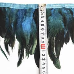 Купить оптом перья Петуха на ленте Sea Storm темно-бирюзовые