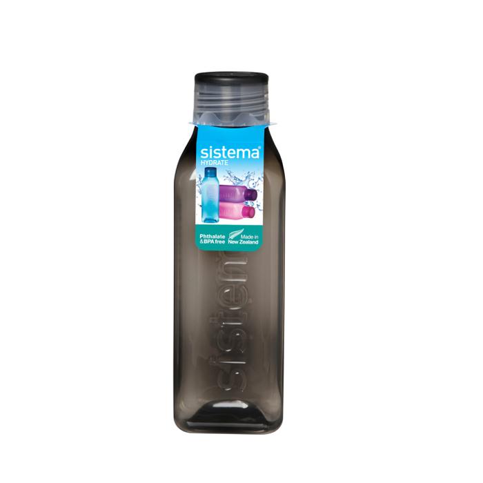 """Бутылка для воды Sistema """"Hydrate"""" 725 мл, цвет Черный"""