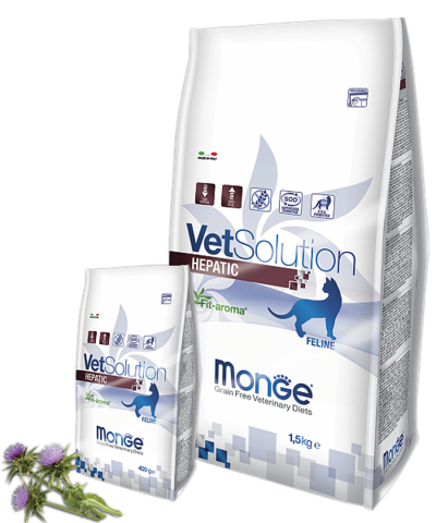 MONGE VETSOLUTION HEPATIC для кошек 1,5кг