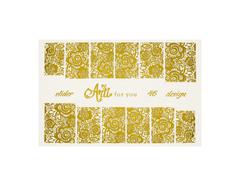Фольга для дизайна ногтей цвет золото 46