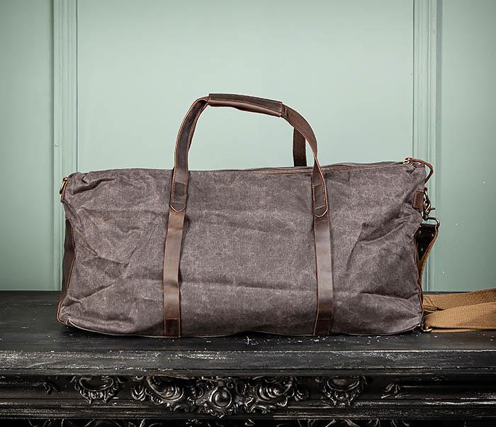 BAG499-1 Мужская дорожная сумка из ткани с ремнем фото 08