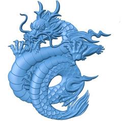 Силиконовый  молд  № 0311 Китайский дракон  - левый