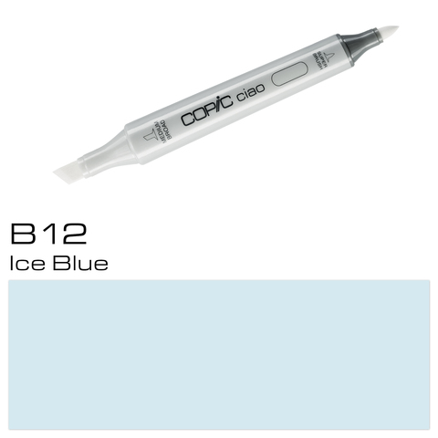 Маркер Copic Ciao двухсторонний на спирт.основе цв.B12 голубой лед