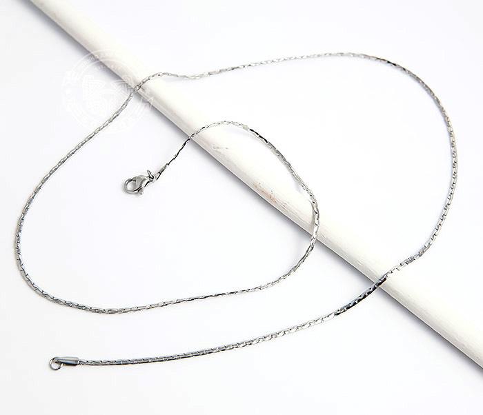 SSNH-0185 Стильная стальная цепочка «Spikes»плоского сечения (55 см) фото 02