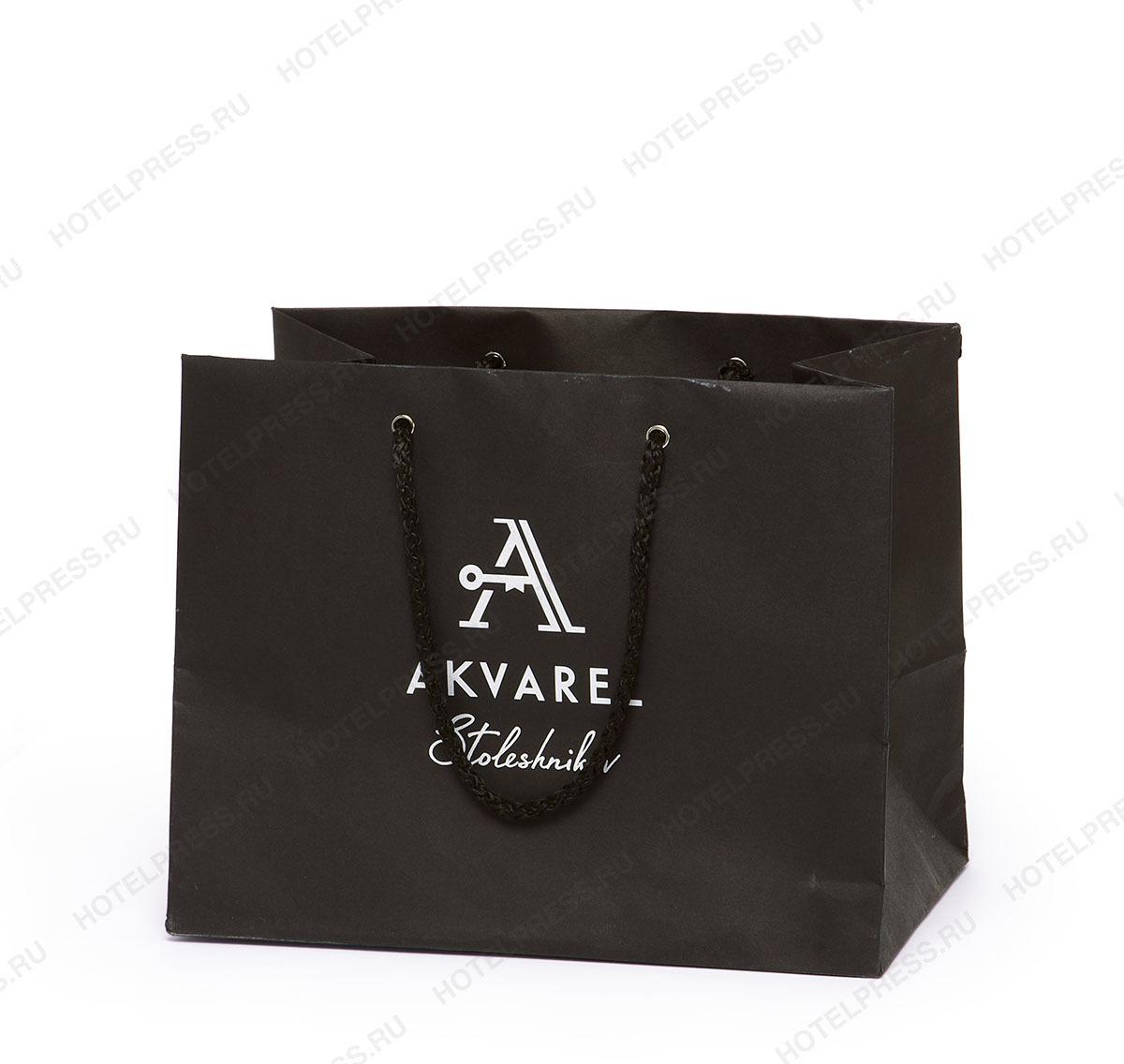 Бумажный пакет бутик-отеля Акварель