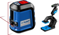 ЗУБР КРЕСТ-15, нивелир лазерный, суперкомпакт,  15м, точн. +/-0,3 мм/м, держатель