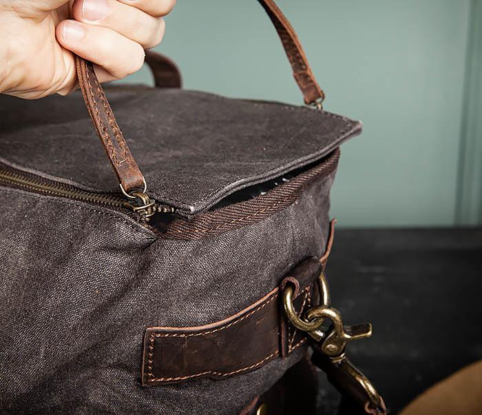 BAG499-1 Мужская дорожная сумка из ткани с ремнем фото 09
