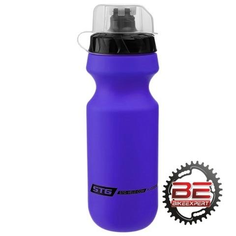 Фляга STG Bicycle Bottle 600мл синяя с крышкой