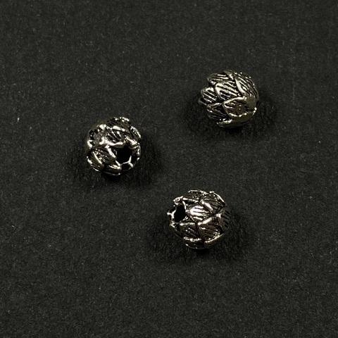 Бусина Бутон 5,6 мм серебро 925