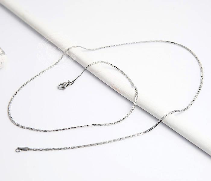 SSNH-0185 Стильная стальная цепочка «Spikes»плоского сечения (55 см) фото 03
