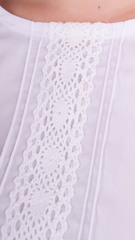 Мар'яна. Ніжна блуза для великих розмірів. Білий.