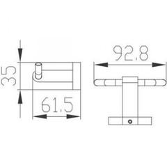 Крючок двойной KAISER Gerade KH-2012  схема