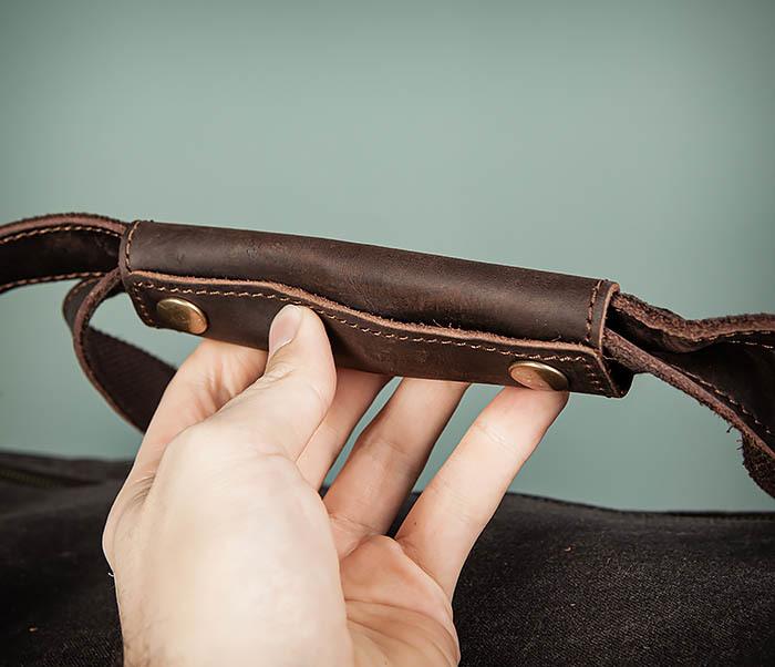 BAG499-1 Мужская дорожная сумка из ткани с ремнем фото 10