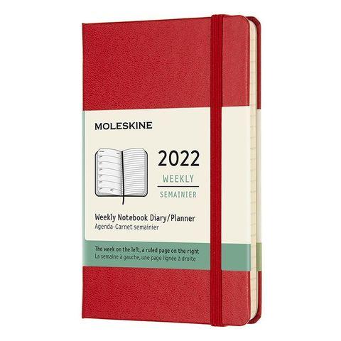 Еженедельник Moleskine (DHF212WN2) Classic WKNT Pocket 90x140мм 144стр. красный