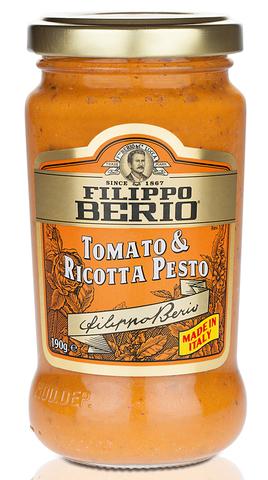 Соус Песто с томатами и сыром рикотта FILIPPO BERIO (190гр) ИТАЛИЯ