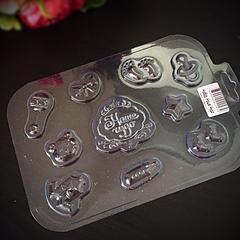 Пластиковая форма для шоколада ср. НАБОР ДЛЯ МАЛЫША с надписью