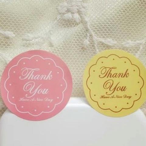 Наклейка Thank You круглая 12 шт арт. sticker-03