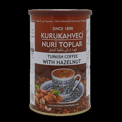 Турецкий кофе молотый с ароматом фундука NURI TOPLAR KURUKAHVECI, 250 гр