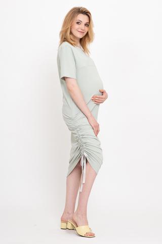 Платье для беременных и кормящих 12737 мята
