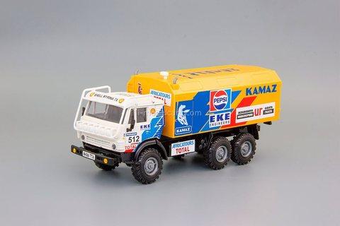 KAMAZ-4310 rally №512 white-yellow Elecon 1:43
