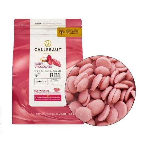 Шоколад Ruby Callebaut RB1, 100г.