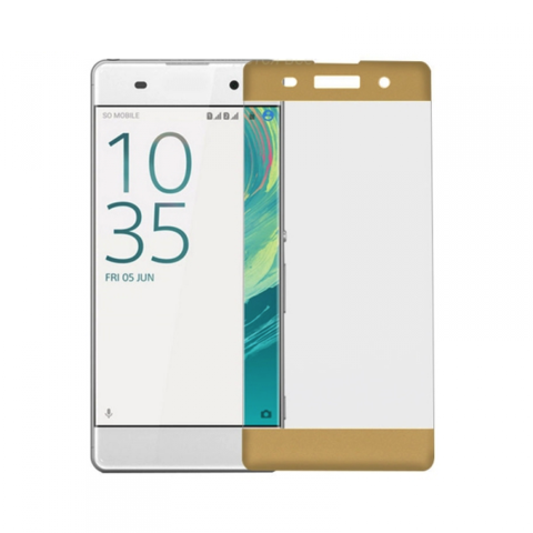 Защитное стекло 3D для Sony XA (Золотое)