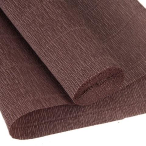 Бумага гофрированная, цвет 614 коричнево-серый, 180г, 50х250 см, Cartotecnica Rossi (Италия)