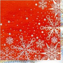 Салфетка Снежные Искры 25см 6шт/G