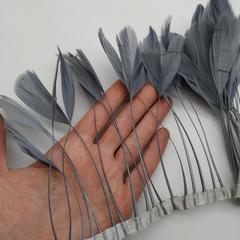 Тесьма  из перьев гуся h-12-14 см.,  (выбрать цвет)