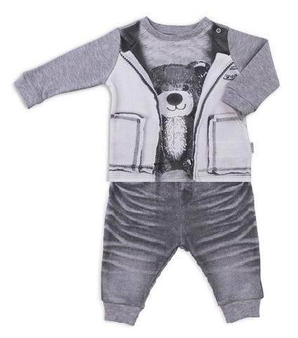 Папитто. Комплект кофточка с мишкой и штанишки для мальчика FASHION JEANS вид 2