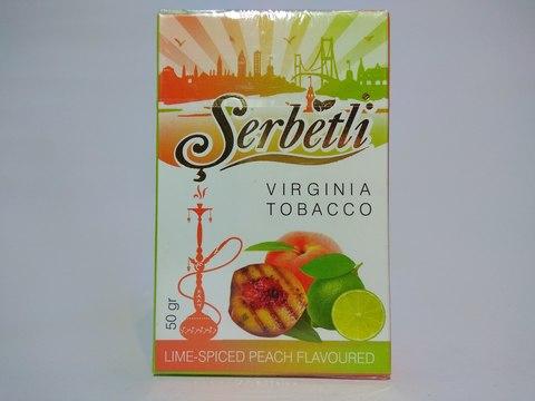 Табак для кальяна SERBETLI Lime Spiced Peach 50gr