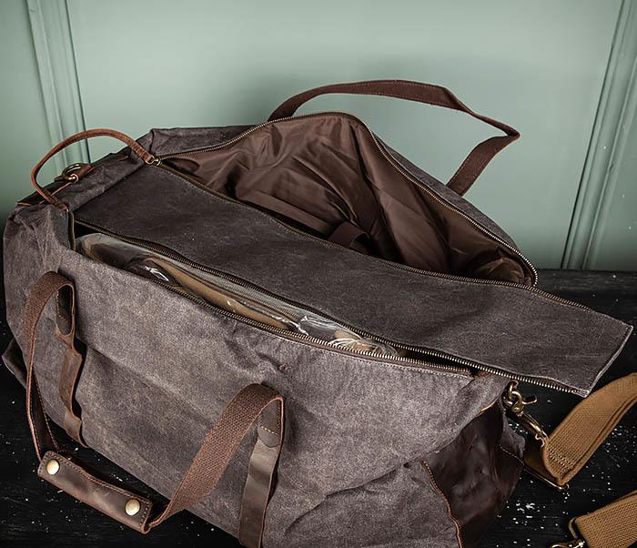 BAG499-1 Мужская дорожная сумка из ткани с ремнем фото 13